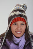 Portrait of a woman in winter royalty free stock images