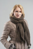 Portrait of woman in winter clothes Stock Photography