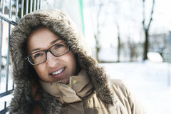Portrait of a woman in winter fashion Stock Photos