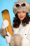 Portrait of woman in winter outfit Stock Image