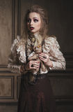 Portrait of woman witch with bloody makeup Royalty Free Stock Photo