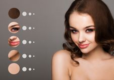 Free Portrait Woman With Skin Parts In Circle Concept Stock Image - 109625091