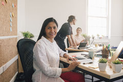 Portrait Of A Woman At Work Stock Image