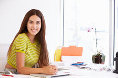 Portrait Of Woman Working In Design Studio Royalty Free Stock Photography