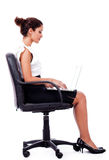 Portrait of a woman working with laptop Royalty Free Stock Photography
