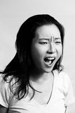 Portrait of woman yelling Royalty Free Stock Photo