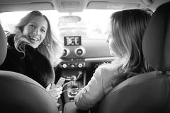 Portrait of women in the car Royalty Free Stock Photos