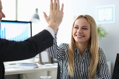 Happy smiling businesswoman stock images