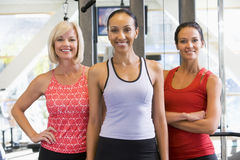 Portrait Of Women At Gym Royalty Free Stock Photos