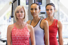 Portrait Of Women At Gym Stock Image