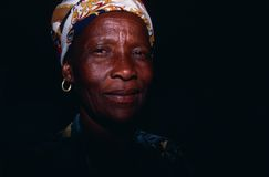 Portrait of a women in South Africa. Royalty Free Stock Photo