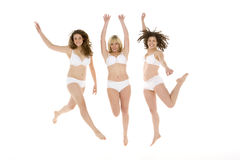 Portrait Of Women In Their Underwear Royalty Free Stock Photos