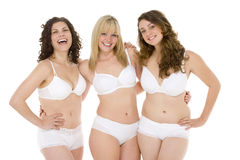 Portrait Of Women In Their Underwear Stock Photo