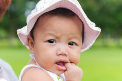 Portrait of wonder baby with nature background Stock Photography
