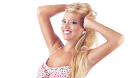 Portrait of wonderful blond women Stock Photos
