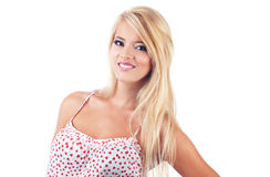 Portrait of wonderful blond women. Studio shot Royalty Free Stock Images