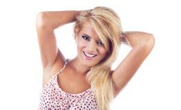 Portrait of wonderful blond women Royalty Free Stock Image