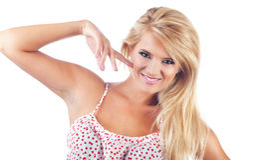 Portrait of wonderful blond women Stock Images