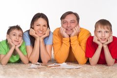 Portrait of a wonderful family Stock Images