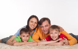Portrait of a wonderful family Stock Image