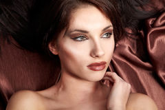 Portrait of wonderful woman Royalty Free Stock Image