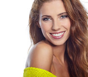 Portrait of wonderful young woman Stock Images