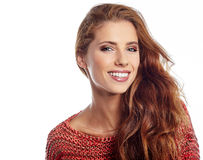 Portrait of wonderful young woman Stock Photos