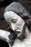 Portrait of wooden Jesus Stock Photo