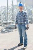 Portrait worker on buidling site. Portrait of worker on buidling site Royalty Free Stock Photography
