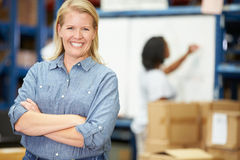 Portrait Of Worker In Distribution Warehouse royalty free stock photos