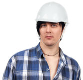 Portrait of worker isolated Royalty Free Stock Photography