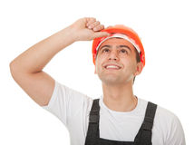 Portrait of a worker looks east Royalty Free Stock Photography