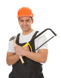 Portrait of a worker looks east Stock Image