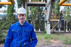 Portrait of worker man stock image