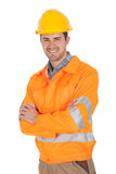 Portrait of worker wearing safety jacket Royalty Free Stock Photo