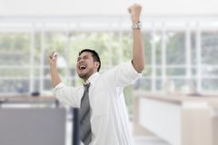 Portrait of working man 20-30 years.Yong businessman stressed stock photo