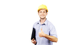 Portrait of the working men Stock Image
