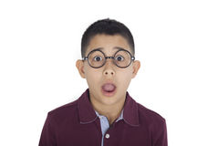 Portrait of worried boy royalty free stock photography