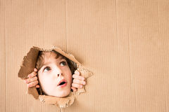 Portrait of worried child Royalty Free Stock Images