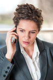 Portrait of worried looking business woman Royalty Free Stock Photography