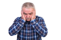 Portrait of a worried senior man Royalty Free Stock Image