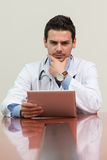 Portrait Of A Worried And Stressed Doctor Stock Photo