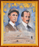 Portrait of Wright Brothers. In Wright Brothers National Memorial Museum, Kill Devil Hills, North Carolina, USA Royalty Free Stock Photos