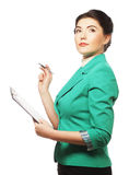 Portrait of writing businesswoman Royalty Free Stock Image