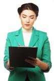 Portrait of writing businesswoman Stock Photos