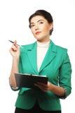 Portrait of writing businesswoman Stock Image