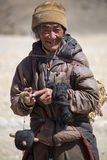 Portrait of a Yak man working in Tibet Royalty Free Stock Photography