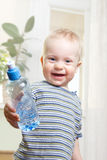 Boy with water Royalty Free Stock Image