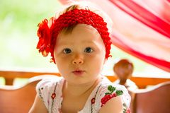 Portrait of year-old child girl Stock Photos