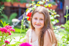 Portrait of 10 year old girl Stock Photo